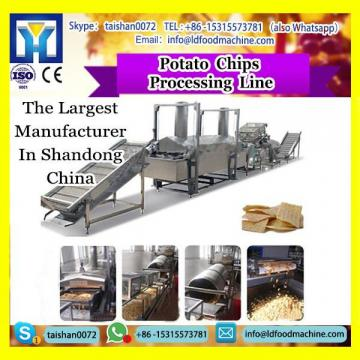 potato chips fries production line with packaging and washing system